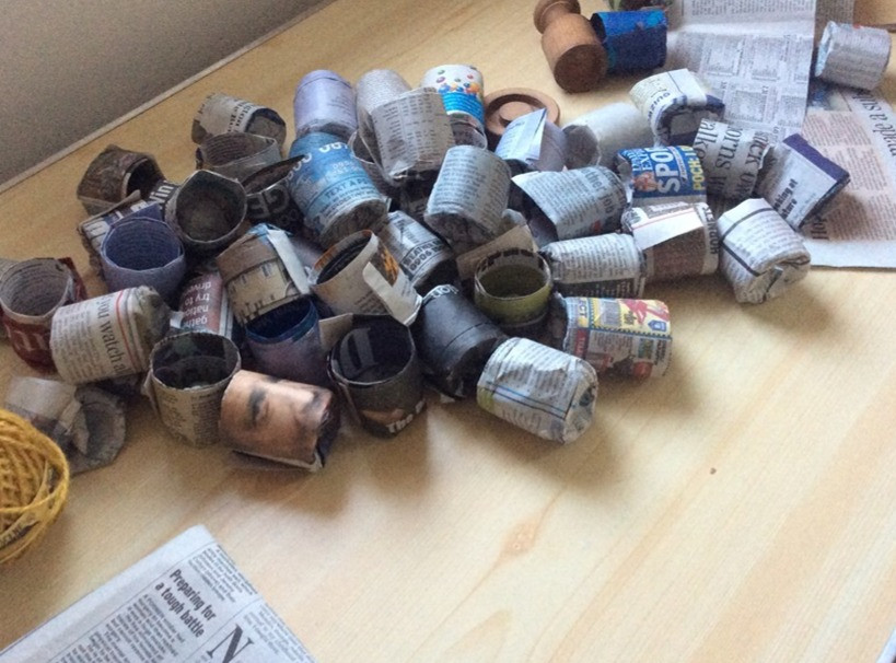 Paper pots made by using the Pot Maker from the Gardener's Delight Gift Box