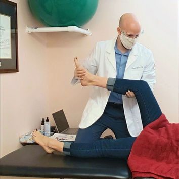 woman undergoing physical therapy
