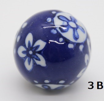 "Ukidama ""Japan Blue"" piccola N° 3 B - diametro 3 cm"