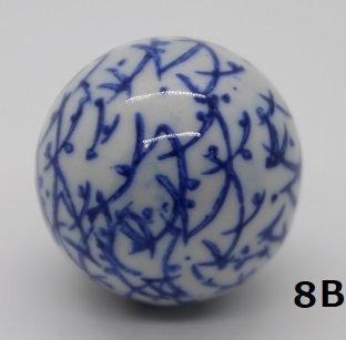 "Ukidama ""Japan Blue"" piccola N° 8 B - diametro 3 cm"