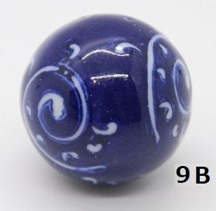 "Ukidama ""Japan Blue"" piccola N° 9 B - diametro 3 cm"