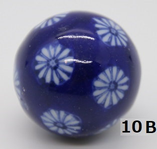 "Ukidama ""Japan Blue"" piccola N° 10 B - diametro 3 cm"