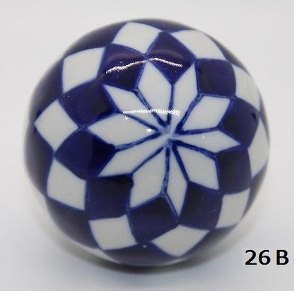 "Ukidama ""Japan Blue"" grande N° 26 B - diametro 5,5 cm"