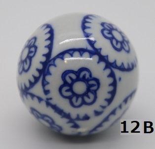 "Ukidama ""Japan Blue"" piccola N° 12 B - diametro 3 cm"