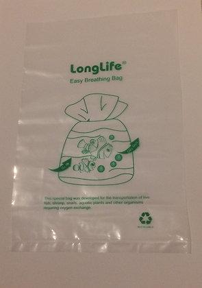 """10 sacchetti traspiranti per il trasporto di pesci """"breathing bag"""" (18 x 25 cm)"""