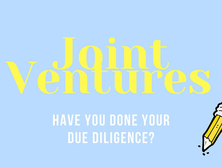 Joint Ventures: Have you done your due diligence?