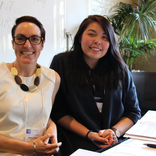 Two of our solicitors, Anika and Maiko