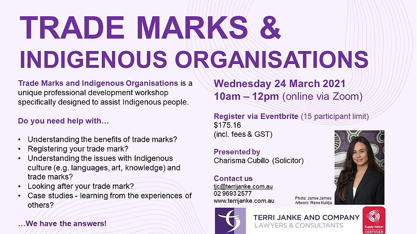 Trade Marks and Indigenous Business Work