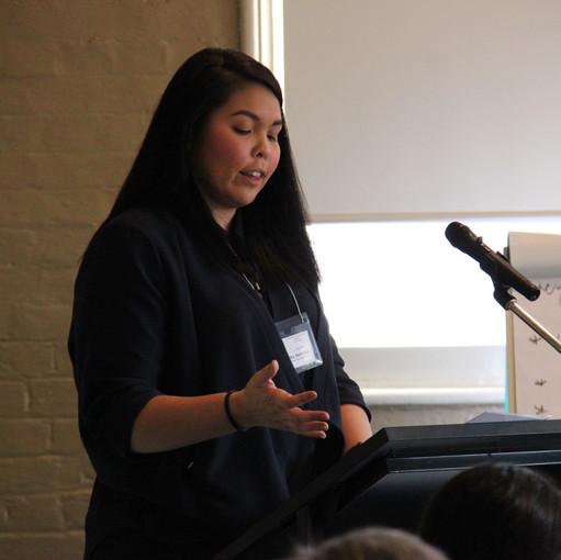 Maiko speaking about Employment strategies