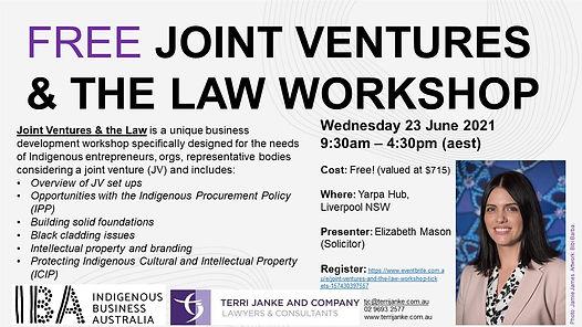 TJ_IBA_Joint Ventures_Workshop_23 June 2