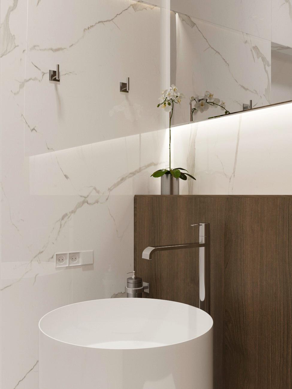 Дизайн интерьера туалета санузла