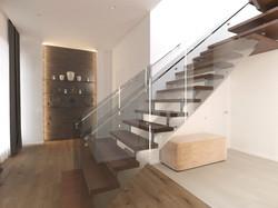 Дизайн интерьера холл лестница