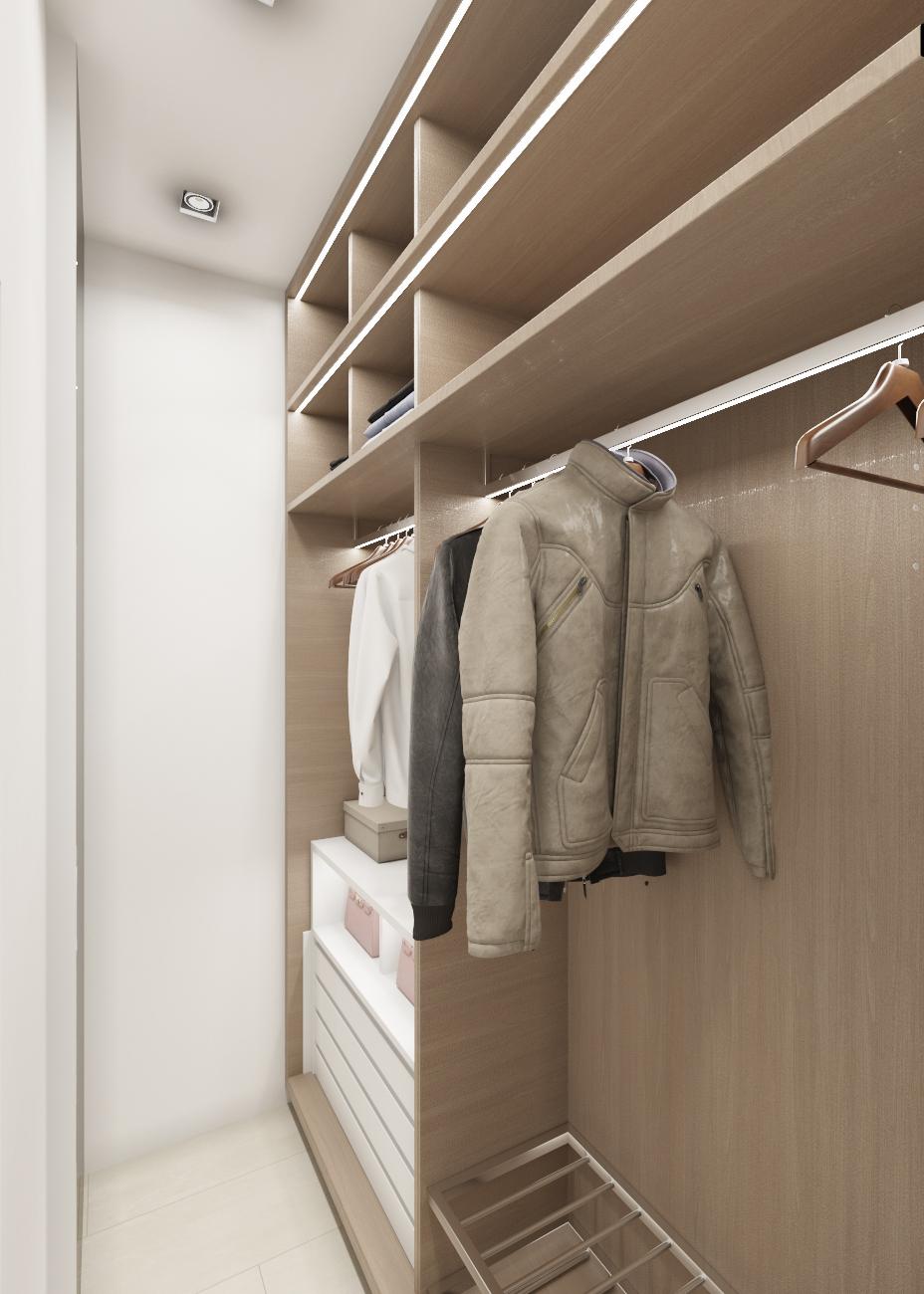 Дизайн интерьера гардероба