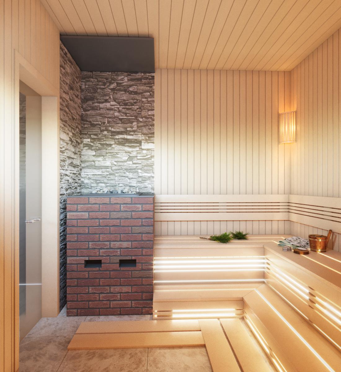 Дом и баня в посёлке Орёл