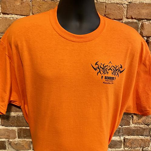 Mens Benders T-Shirt   Orange