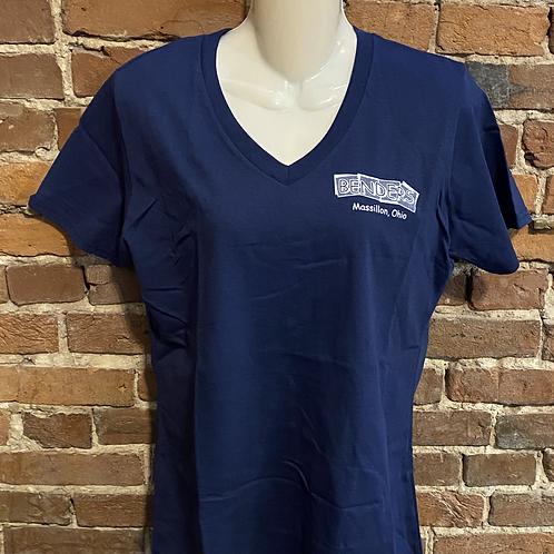 Womens Benders T-Shirt   Navy