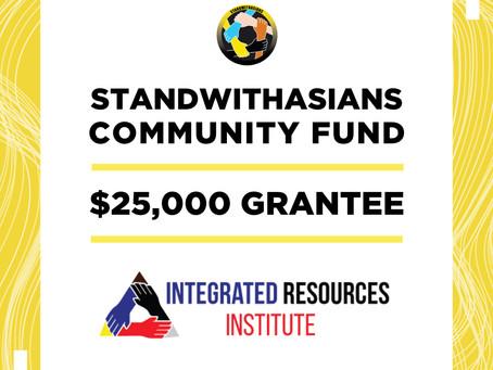 IRI Receives $25k Grant from Community Fund and Landmark NFT-based Donation