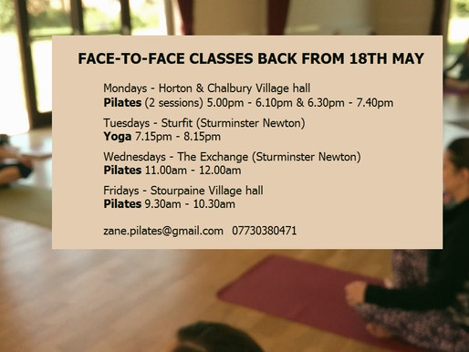FACE-TO-FACE CLASSES ARE BACK