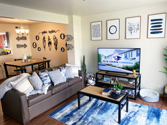 Our of campus apartments come with flat screen HDTVs that have cable included!