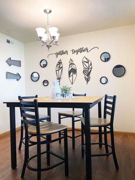 Dining Room Table and Chairs Included in Every Unit