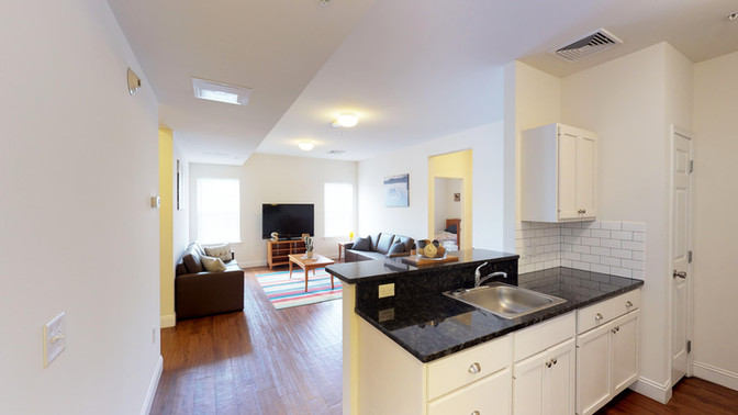 Campus Heights Suite Living and Kitchen