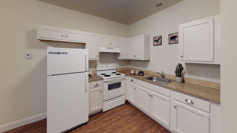 Custom Cabinets and Full-Sized Appliances