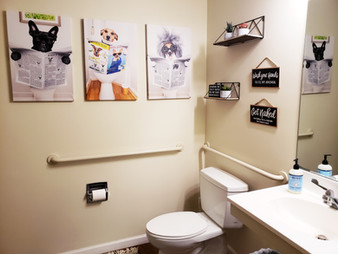 Our standard housing units also include a half downstairs bathroom.