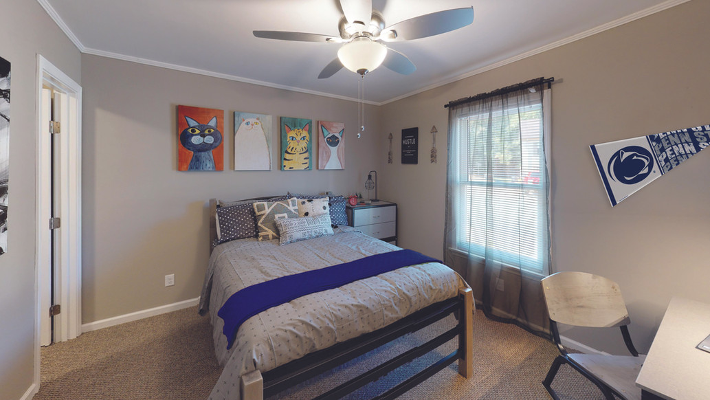 Penn State Themed Suite Style Premier Bedroom