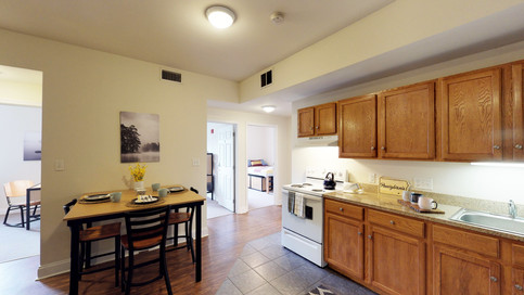 Spacious Kitchens with Full-Sized Appliances