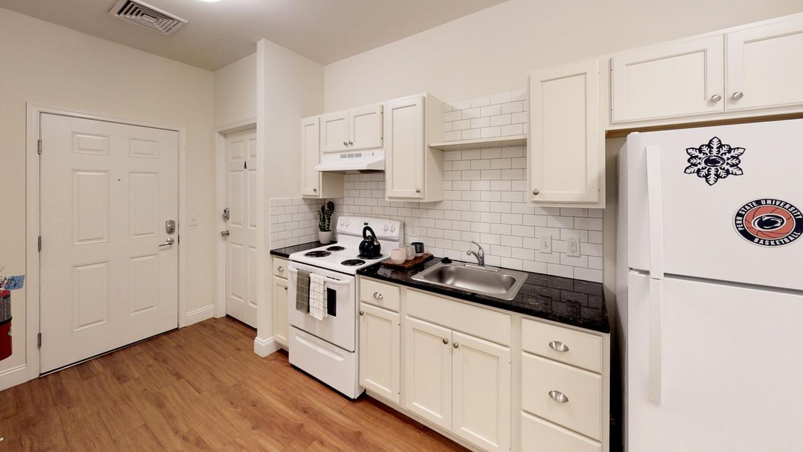 Custom Kitchens wth Full-Sized Appliances