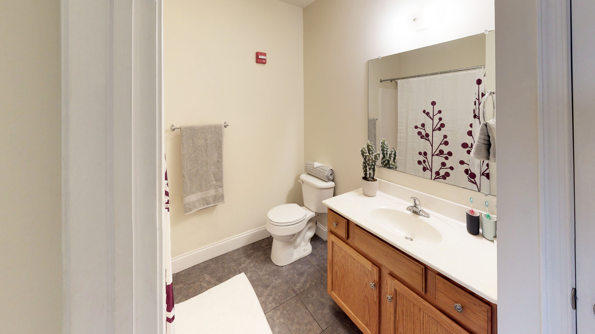 Full-Sized Bathrooms with Large Vanities