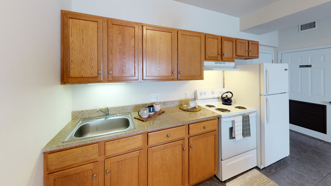 Kitchens Include Full-Sized Appliances