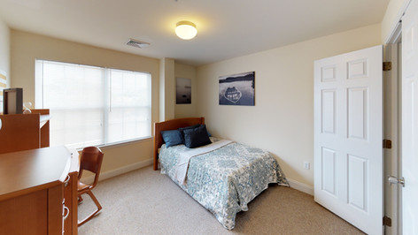 Full-Sized Beds in Private Bedrooms