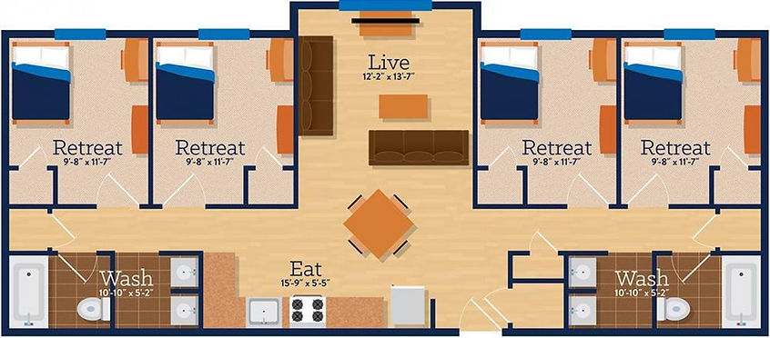 College Station Floor Plan