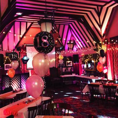 disco & decor in a pub