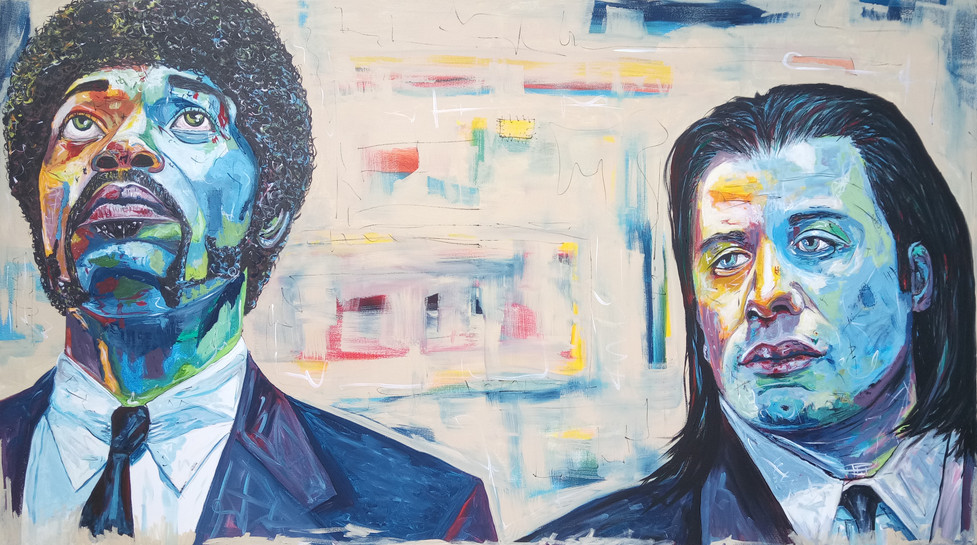 Pulp Fiction - Jules and Vincent 110 x 200 cm