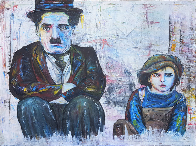 Charlie Chaplin - The Kid 145 x 200 cm