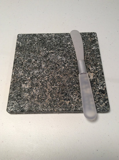 Trivet - Solid Black Pearl Granite