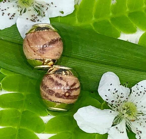 Beads of Missouri Burlington Chert M14 Brass