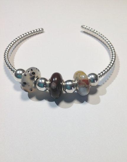 Hope ~ Courage ~ Optimism Cuff Bracelet