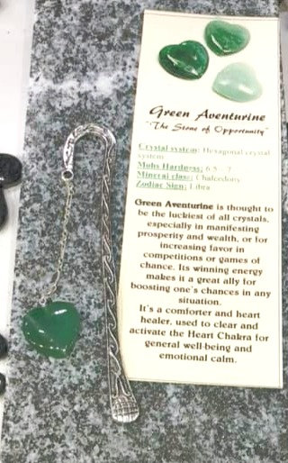 Bookmark Green Aventurine