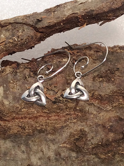 Celtic Tri-Knot Earrings