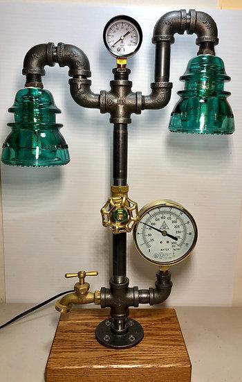 Sunapee Steamers Lamp w/2 Insulators