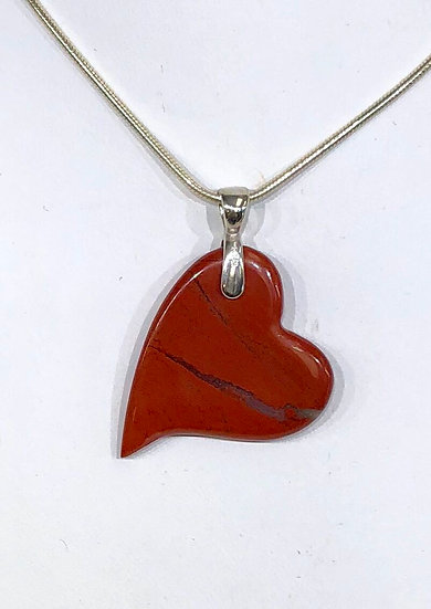 Pulse Pendant - Red Jasper