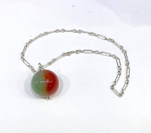 Pendulum Green/Orange Agate