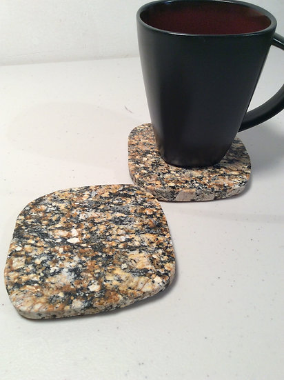 Granite Coasters (2) - NH Cougar Stone