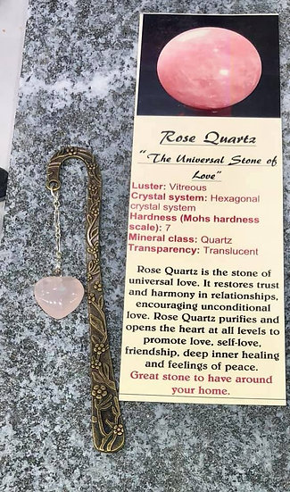 Bookmark Rose Quartz