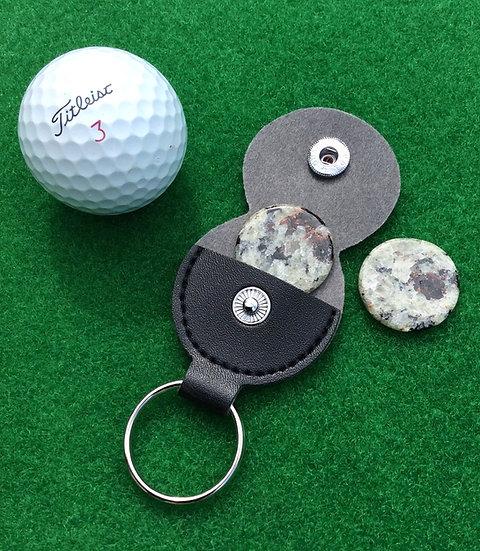 Golf Ball Markers - NY Barton Garnet