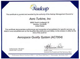Nadcap Aerospace Quality System - AC7004