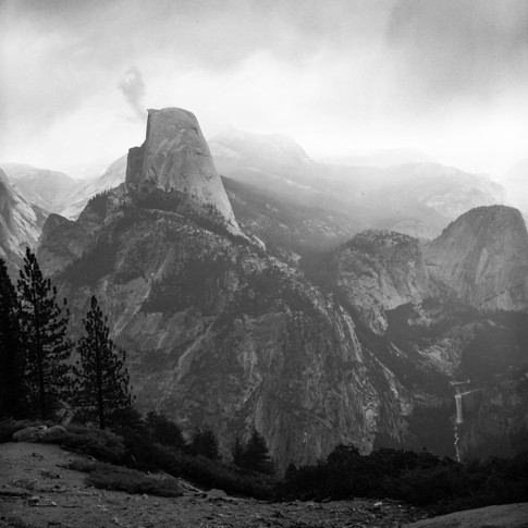 Spring Storm Over Half Dome